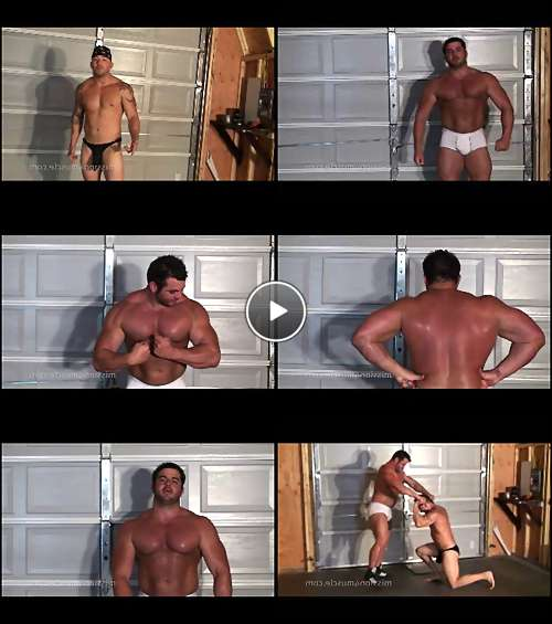 sexy men wrestling video